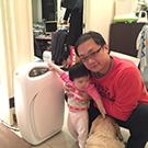 洪振程-有了克立淨,家中有寵物的小孩也不怕過敏!